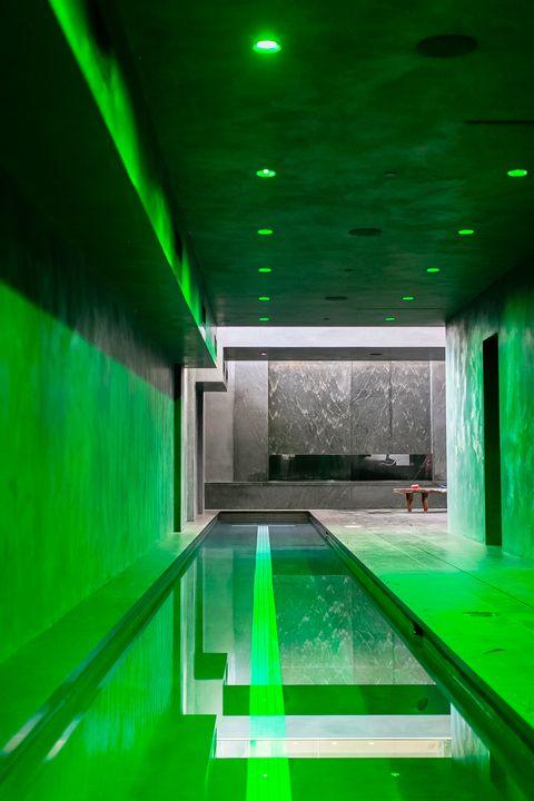 indoor swimming with circadian rhythm light