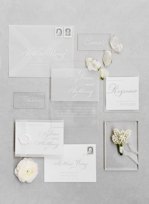 White, Wedding invitation, Invitation, Party supply, Paper, Stationery, Paper product, Wildflower,