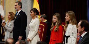 Los reyes con las infantas en la apertura de la legislatura