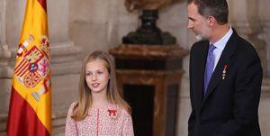 Infanta Leonor y el Rey Felipe