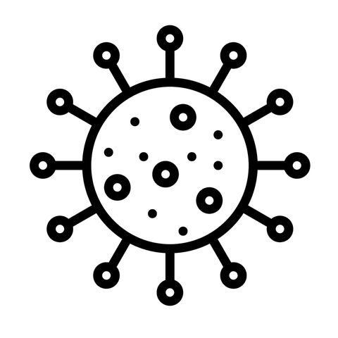 Virus line icon, outline vector sign, linear pictogram isolated on white. Infection symbol, logo illustration