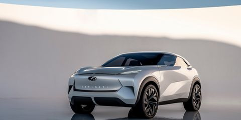 The Infiniti Qx Inspiration Concept Previews A Production Electric Suv