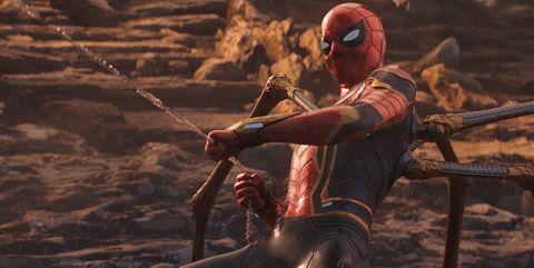 Spider-Man con traje araña en Infinity War
