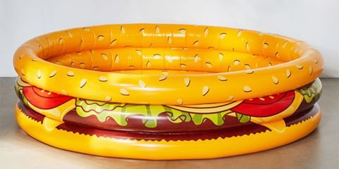 This Inflatable Cheeseburger Pool Was Made for Hot (and Hungry) Adults