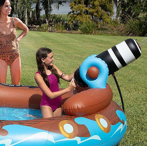 You Can Get an 11-Foot Inflatable Pirate Ship Pool