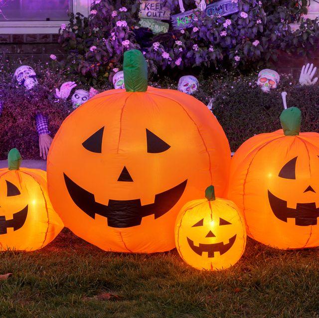 Halloween 2020 Inflating Pumpkin Opening 11 Inflatable Halloween Decorations for 2020   Outdoor Halloween