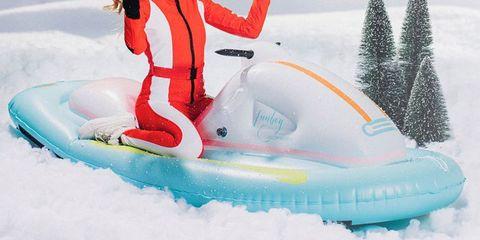Snow, Recreation, Winter, Fun, Footwear, Inflatable, Vehicle, Leisure, Water park, Games,