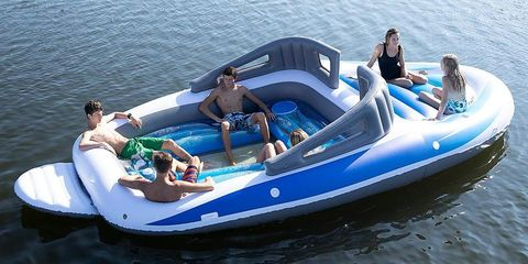 You Can Get a 20-Foot Inflatable Speedboat Float on Amazon