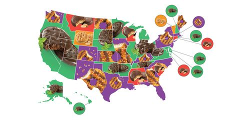 Girl Scout cookie map