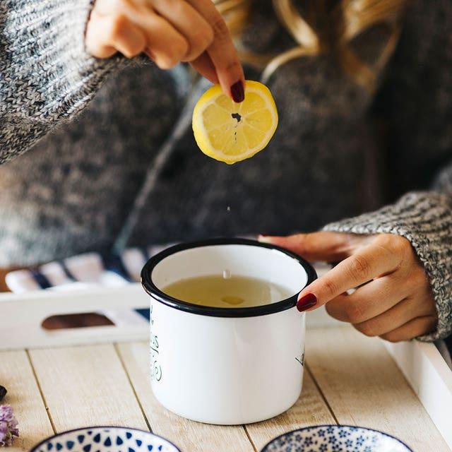 infusión de limón y jengibre
