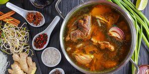 ingredients of Vietnamese soup Pho Bo
