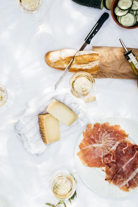 Food, Dish, Cuisine, Prosciutto, Ingredient, Breakfast, À la carte food, Salt-cured meat, Brunch, Meal,