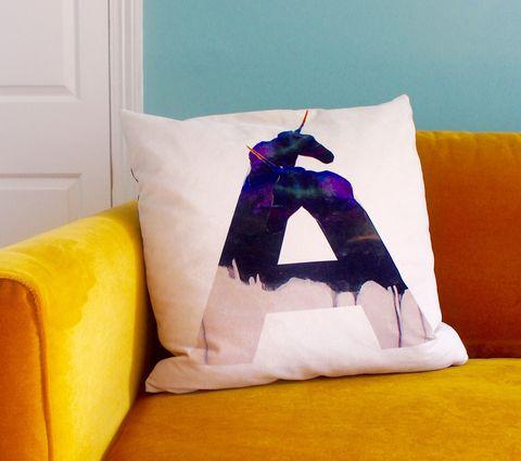 Initial Ombré Unicorn Cushion Cover