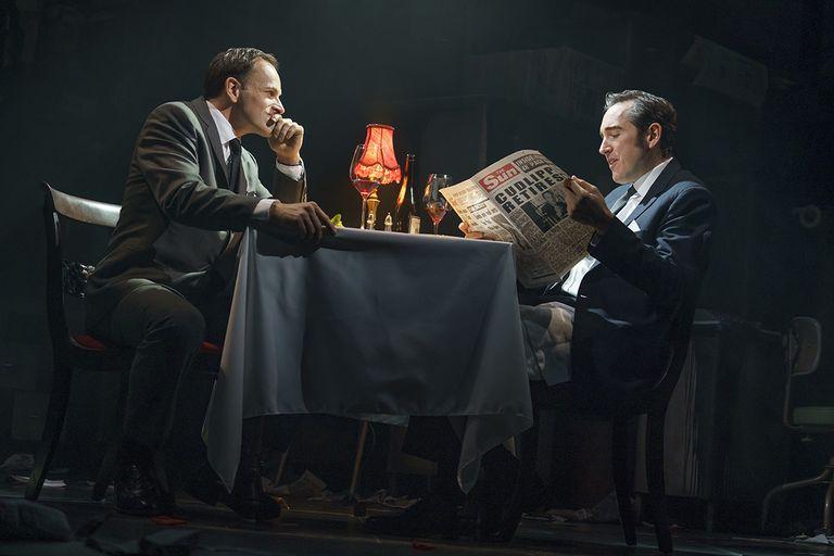 Bertie Carvill, right, plays Rupert Murdoch in Ink .