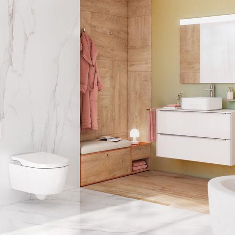 Baño con inodoro inteligente
