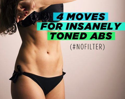 4 Moves for Insanely Toned Abs (#NoFilter)