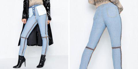 Clothing, Jeans, Denim, White, Waist, Leg, Fashion, Leggings, Trousers, Knee,