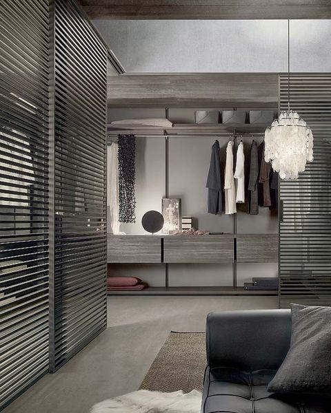 vestidor con travesaños de aluminio