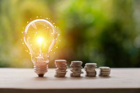 inspiration, ideas, light bulb, business, coin, market   retail space, gold, travel, white color, achievement, bank   financial building, banking, bright, business strategy, concepts, concepts  topics, creativity, c  saving concept,light bulb concept