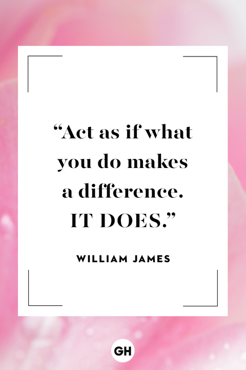William James inspirational making a difference quote
