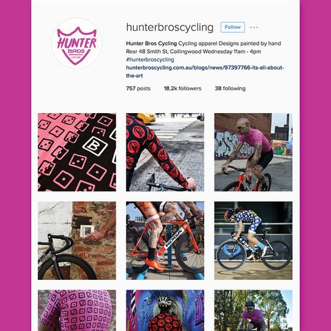Hunter Bros Cycling Instagram feed.