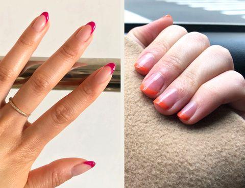 Nail, Finger, Manicure, Nail polish, Nail care, Hand, Cosmetics, Skin, Pink, Material property,