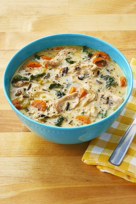 instant pot creamy chicken and wild rice soup fall soup recipes