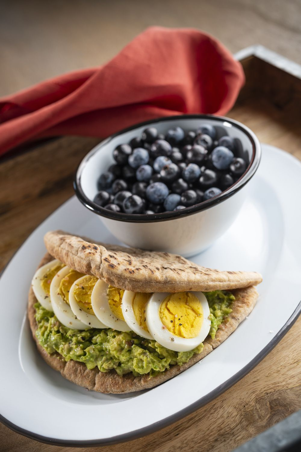 Egg and Avocado Pita