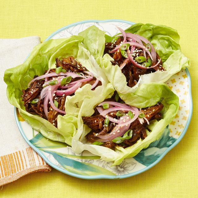 instant pot sticky pork lettuce wraps