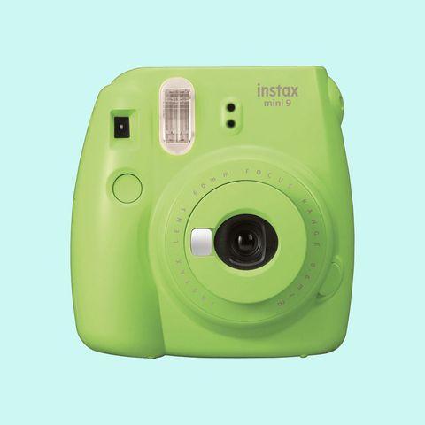 Camera, Cameras & optics, Green, Product, Point-and-shoot camera, Instant camera, Digital camera, Disposable camera, Material property, Lens,