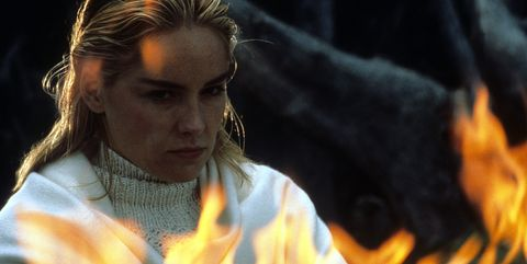sharon stone in scene from the film basic instinct, 1992 photo by tristargetty images