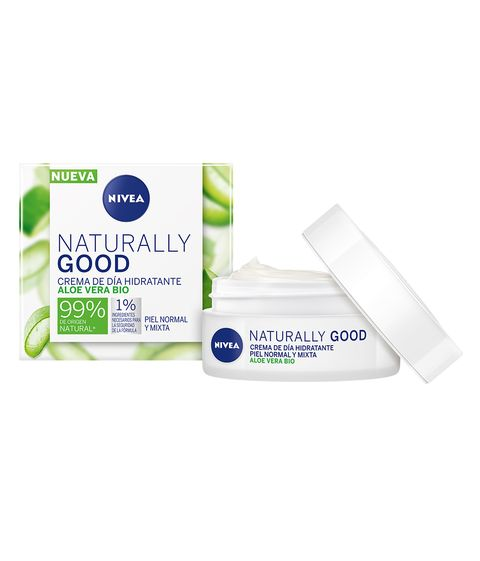 crema de nivea naturally good con aloe vera