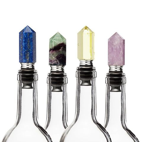 Intention Stone Wine Stoppers Cool Gifts