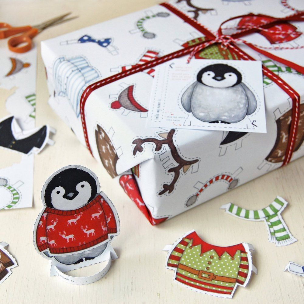 Penguin interactive wrapping paper photo