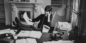 Anita Harris aan het werk