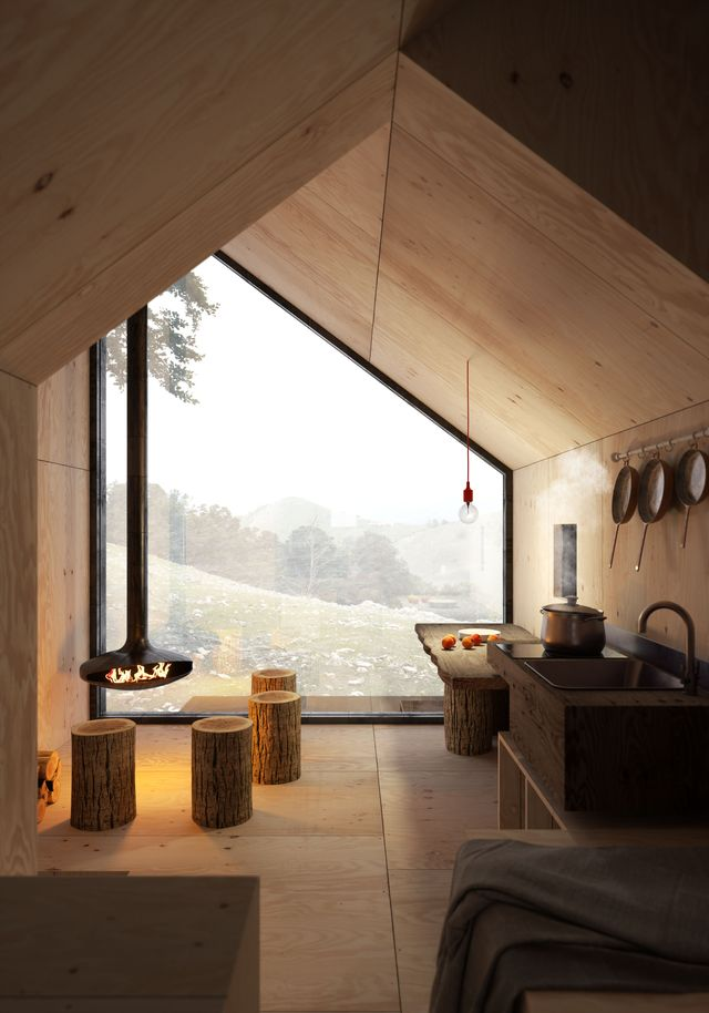 casa di montagna moderna