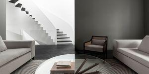 La Shed architectura diseña una casa en blanco y negro minimalista du pard