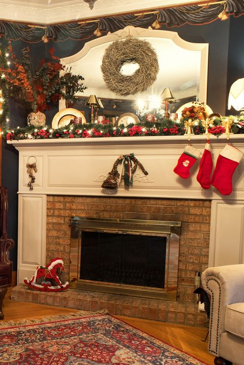 hang wreaths on mirrors