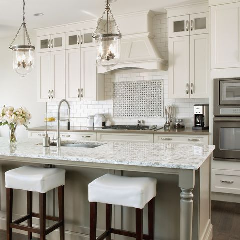 Interior of contemporary white kitchen