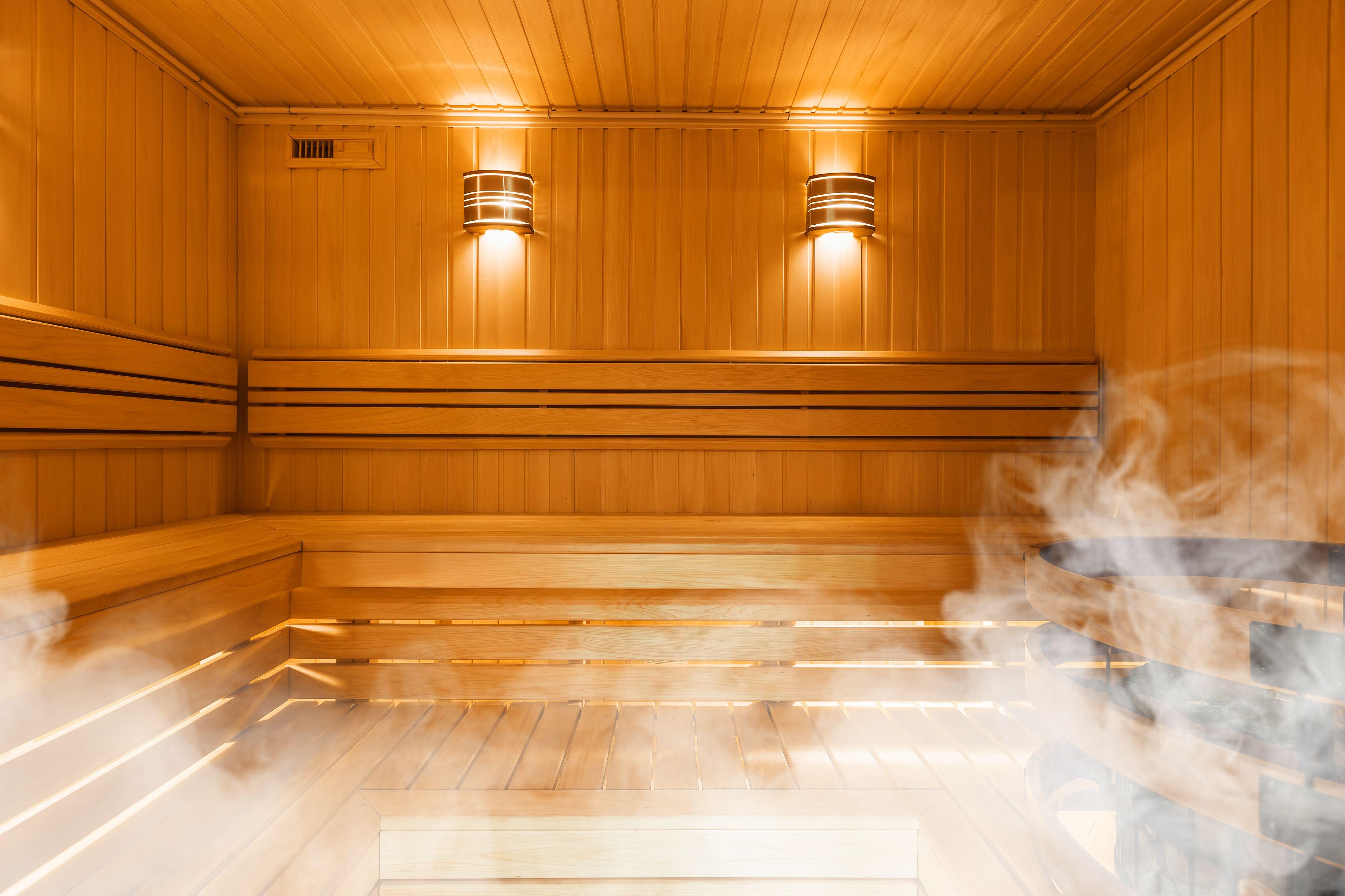 Steam room cabin helo like sauna spa gym health club beauty