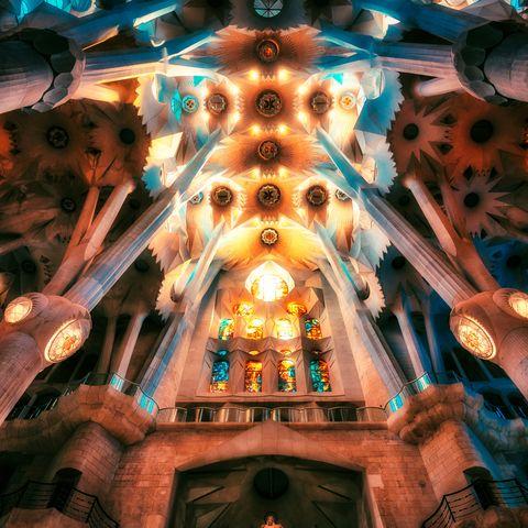 interior of the sagrada familia church