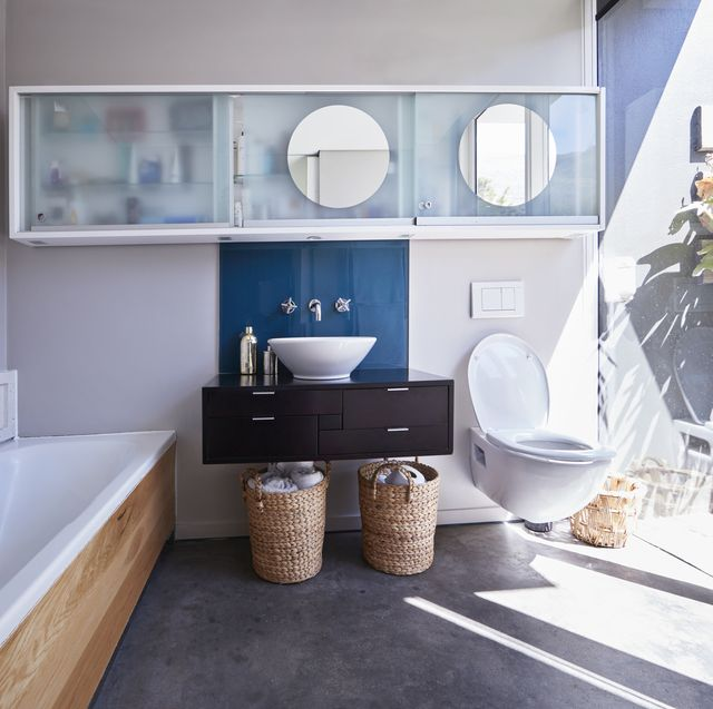 interior still life image of bathroom designed villa