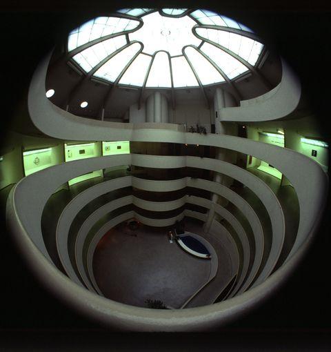 Interior View Of The Guggenheim Museum