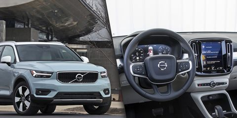 2019 Volvo XC40 exterior and interior