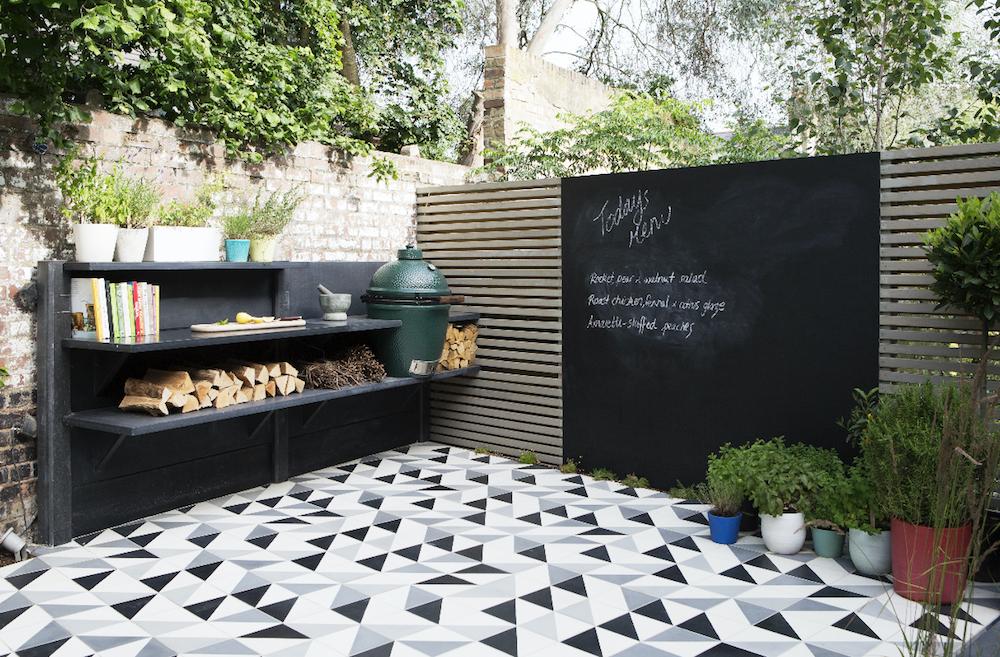 garden chalk board photo
