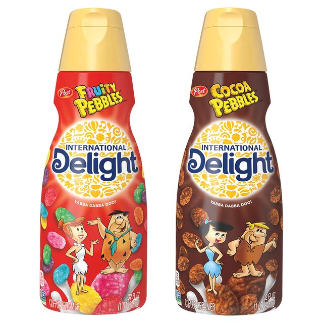 international delight fruity pebbles and cocoa pebbles coffee creamers
