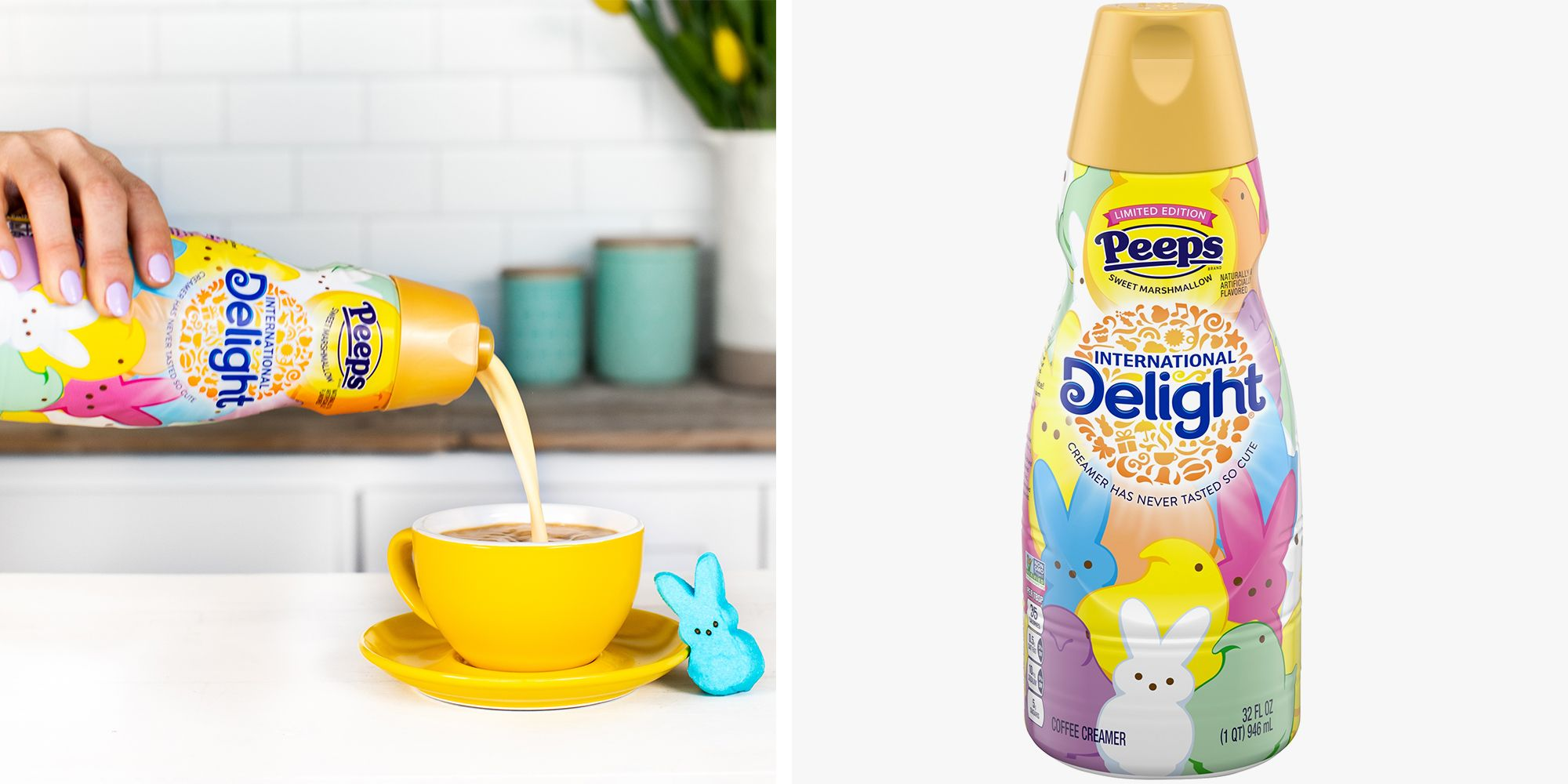 Peeps Coffee Creamer Is Officially Back to Make Your Brew Taste Like Marshmallow Heaven