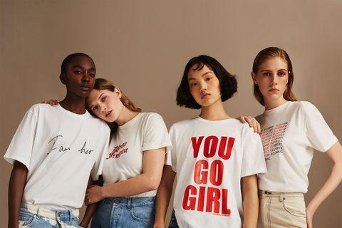 855c1703e Net-a-Porter launches feminist T-shirts to mark International Women's Day