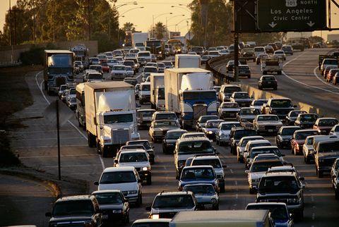 Los Angeles Gridlock on Interstate Highway 5