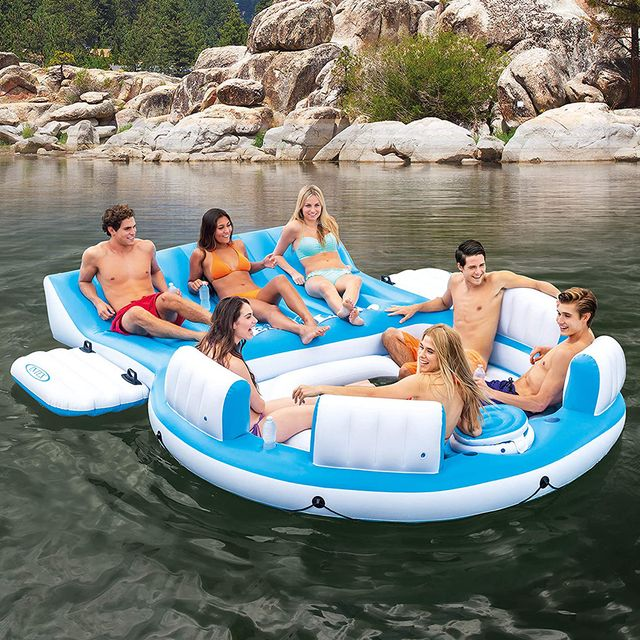 intex splash 'n chill inflatable relaxation island pool float